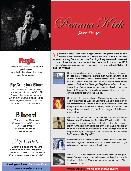 Download Deanna Kirk One Sheet